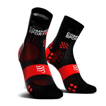 PRORACING SOCKS V3 ULTRALIGHT RUN HIGH Unisexe BLACK/RED