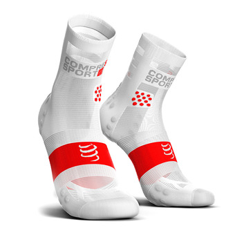 Chaussettes montantes PRORACING V3 ULTRALIGHT RUN HIGH blanc