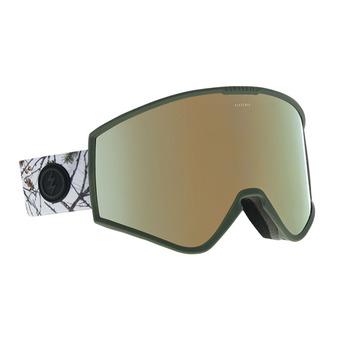 Masque de ski KLEVELAND country/brose-gold chrome + brose-light