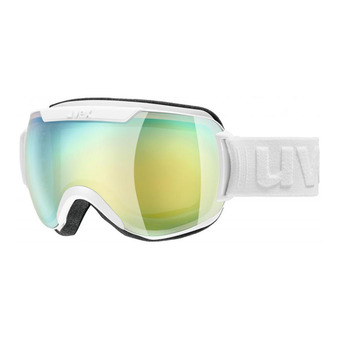 Gafas de esquí DOWNHILL 2000 FM white mat/mirror orange/blue