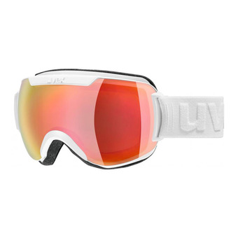 Uvex DOWNHILL 2000 FM - Masque ski white mat/mirror red/lasergold lite