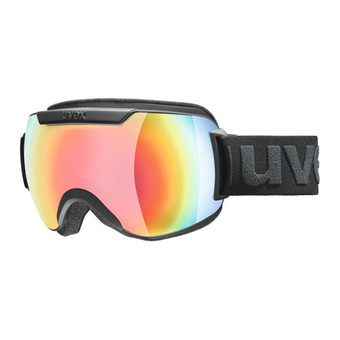 Masque de ski DOWNHILL 2000 FM black mat/mirror rainbow/rose