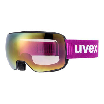 Masque de ski COMPACT FM black mat/mirror pink/clear