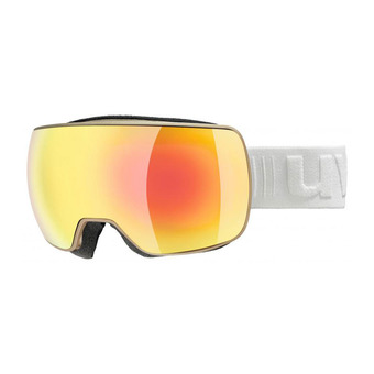Uvex COMPACT FM - Masque ski prosecco mat/mirror orange clear