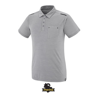 Polo MC homme IMJA WOOL smoked pearl