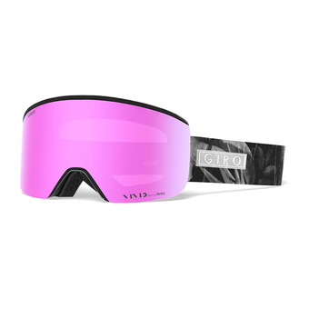 Giro ELLA - Masque ski Femme black petal/vivid pink/infrared