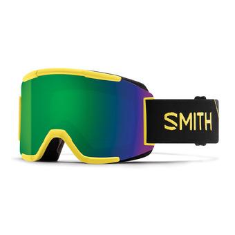 Masque de ski SQUAD citron glow/chroma pop sun green mirror + yellow