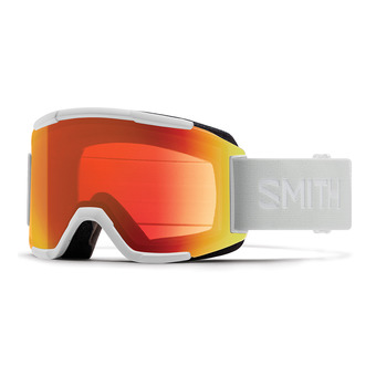 Smith SQUAD - Ski Goggles - white vapor/red sol x mirror