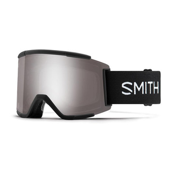 Smith SQUAD - Masque de ski black/chromapop sun platinium mirror + yellow
