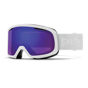 Masque de ski femme RIOT white vapor/chromapop everyday violet mirror + yellow