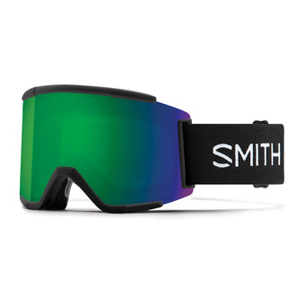 Smith SQUAD XL - Ski Goggles - black/chromapop everyday green mirror