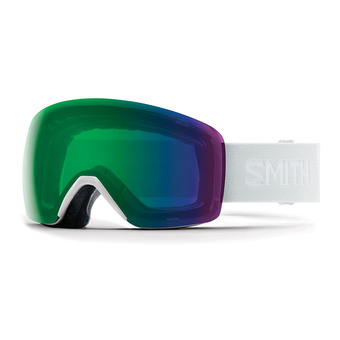Smith SKYLINE - Maschera da sci white vapor/chromapop everyday green mirror