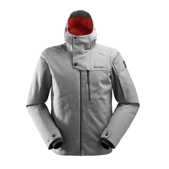 Veste de ski à capuche homme THE ROCKS 2.0 misty grey