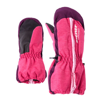 Moufles de ski junior LANGELO AS® MINIS pink blossom rib