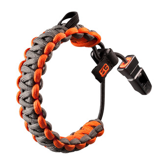 Bracelet de survie paracorde BEAR GRYLLS gris/orange