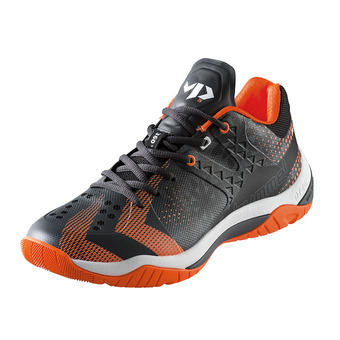 Hummel DUAL PLATE POWER VP28 - Zapatillas de balonmano hombre black/shocking orange