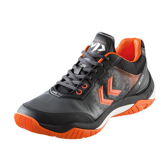 Hummel DUAL PLATE SKILL VP28 - Zapatillas de balonmano hombre black/shocking orange