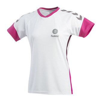Hummel TROPHY - Camiseta mujer white/beetroot purple