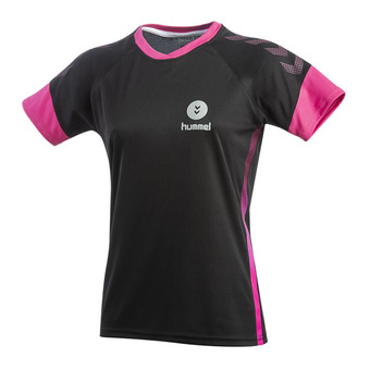 Hummel TROPHY - Camiseta mujer black/beetroot purple