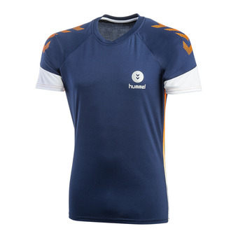 Maillot MC homme TROPHY PE19 poseidon/orange popside