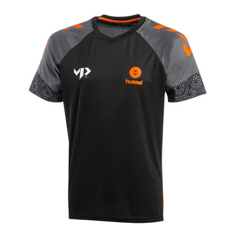 Hummel VP28 XMAS - Maillot Homme xmas18 black/shocking orange