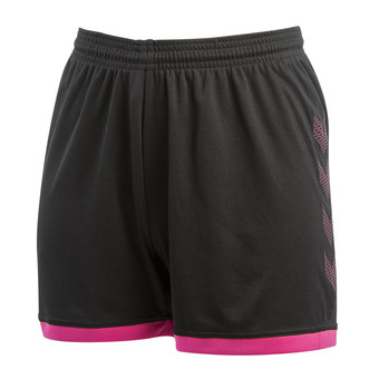 Hummel TROPHY - Short mujer black/beetroot purple