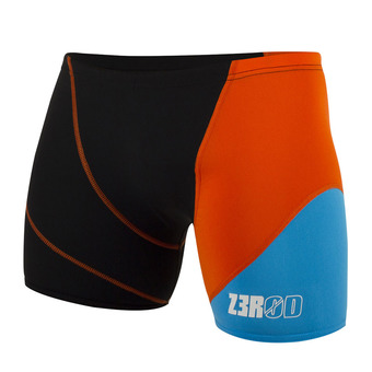 Z3Rod BOXER - Swimming Trunks - Men's - black/atoll/orange