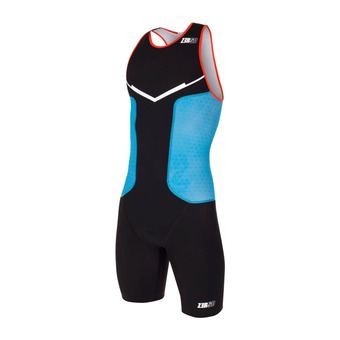 Z3Rod RACER - Trisuit - Men's - black/atoll/orange