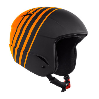 Casque de ski junior D-RACE stretch limo/russet orange