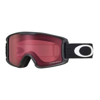 Oakley LINE MINER - Maschera da sci Junior matte black/prizm rose