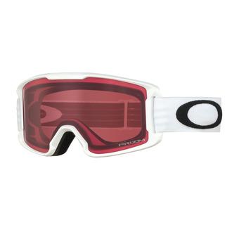 Oakley LINE MINER - Maschera da sci Junior matte white/prizm rose