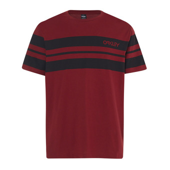 Tee-shirt MC homme CLASSIC STRIPE WIDE iron red