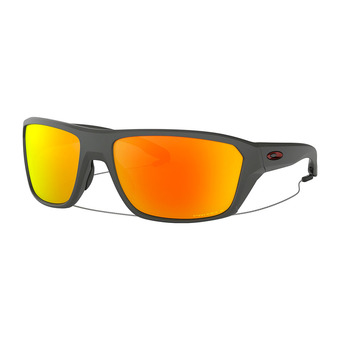 Oakley SPLIT SHOT - Lunettes de soleil polarisées matte heather grey/prizm ruby polarized