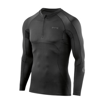 Maillot 1/2 zippé ML homme DNAMIC ULTIMATE black