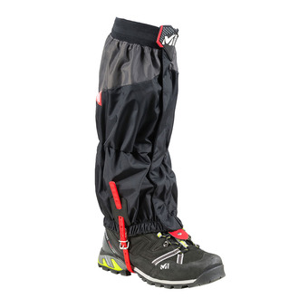 Millet HIGH ROUTE GAITER - Polainas hombre black/red