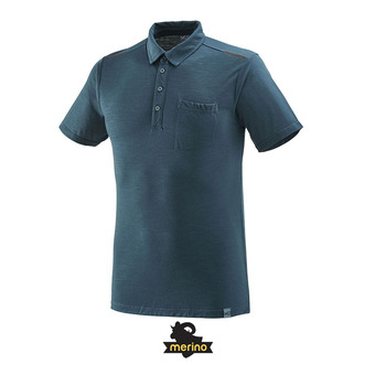 Polo MC homme IMJA WOOL orion blue