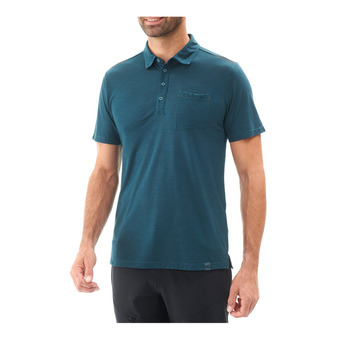 SS Polo Men's - IMJA WOOL orion blue