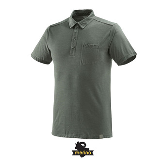 Polo hombre IMJA WOOL castle gray