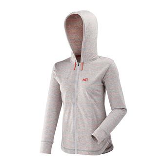 Sweat zippé à capuche femme HAUKKA LIGHT heather grey