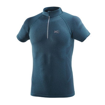 Maillot 1/2 zippé MC homme LKT SEAMLESS LIGHT orion blue