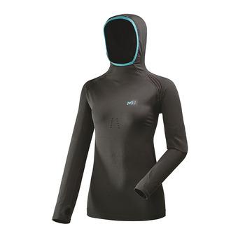 Camiseta térmica mujer TOURING black/enamel blue