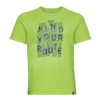 Odlo MILLENIUM ELEMENT - Camiseta hombre acid heather/placed print