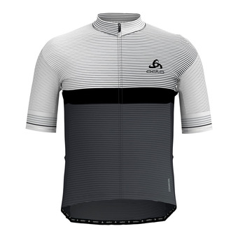 Maillot MC zippé homme ZEROWEIGHT CERAMICOOL PRO white/graphite grey