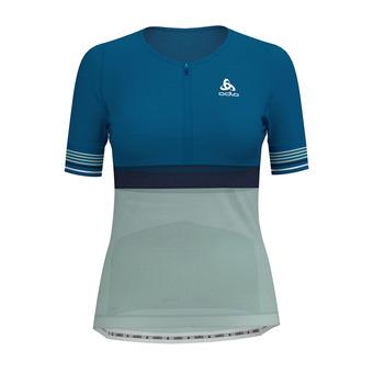 Camiseta mujer ZEROWEIGHT CERAMICOOL mykonos blue/surf spray/diving navy