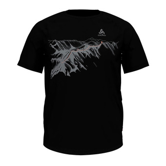 Odlo CONCORD - T-Shirt - Men's - black/mountain print