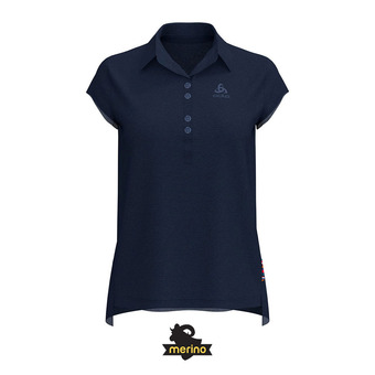 Polo mujer CERAMIWOOL diving navy