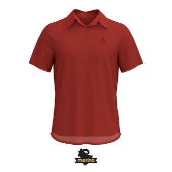 Odlo CERAMIWOOL - Polo Homme chili oil
