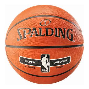 Spalding NBA SILVER OUTDOOR - Balón de baloncesto naranja