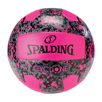 Ballon de beach-volley CYCLONE rose fluo/noir