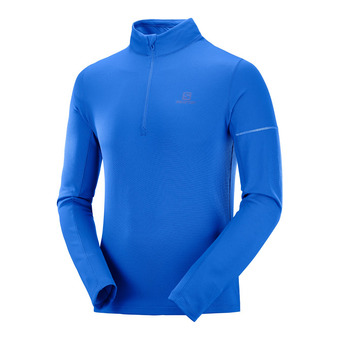 Salomon AGILE HZ MID - Camiseta térmica hombre nautical blue/blithe